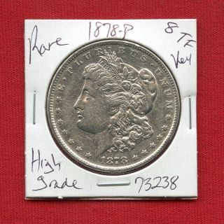 1878 8tf Morgan Silver Dollar 73238 Coin Us Rare Key Date Estate photo