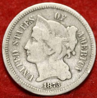 1873 Philadelphia Nickel Three Cent Coin photo