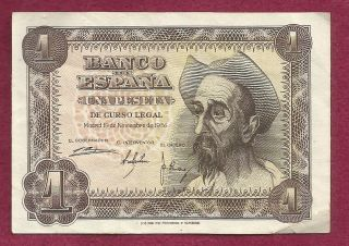 Spain 1 Pesetta 1951 Banknote 4633686 - Don Quixote photo