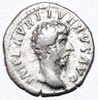 Authentic Lucius Verus - Roman Coin,  Ar Silver Denarius - Rv.  Providentia - C309 photo