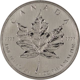 Canada Palladium Maple Leaf - 1 Oz - $50 -.  9995 Fine - Random Year photo