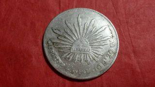 4 Reales Guanajuato 1845 P.  M.  Leyenda