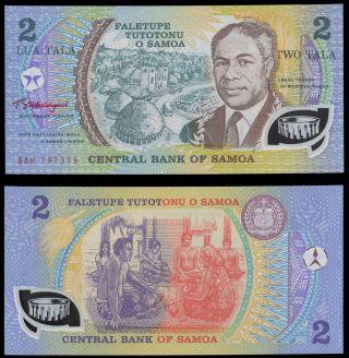 Western Samoa 2 Taka King Tanumafili Ii 1990 P - 31 Polymer Banknote photo