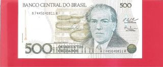 Brazil P212c - 500 Cruzado - 1987 Uncirculated photo