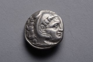 Ancient Greek Silver Drachm Coin Of Alexander The Great - 323 Bc photo