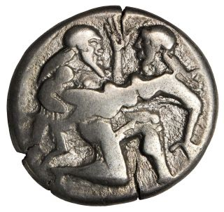 Thrace Islands 480 - 463 Bc Thasos Ar Silver Stater Protesting Nymph Ancient Greek photo