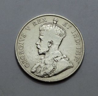 1911 Rare Canada Silver 50 Cents,  F,  50c,  Half Dollar, photo