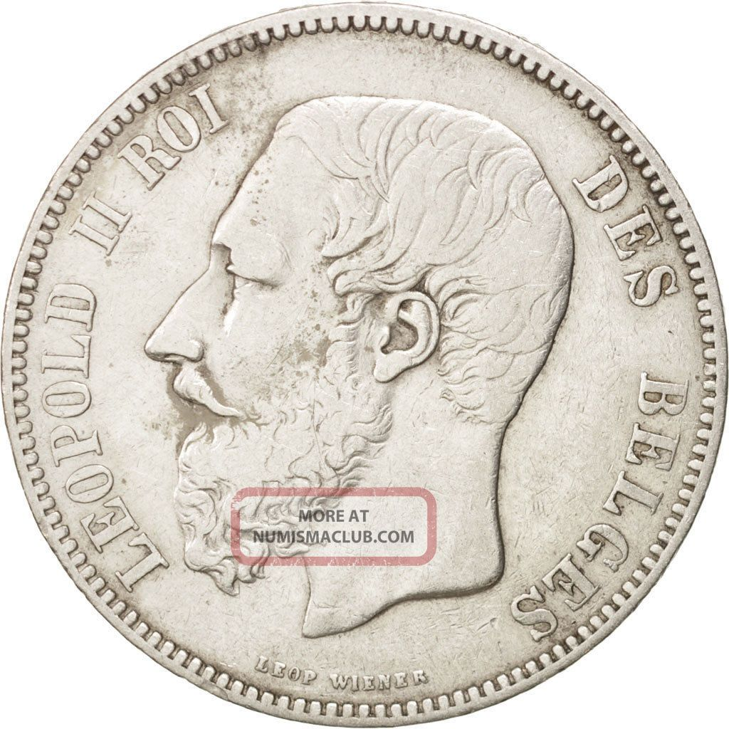 [ 450739] Belgium,  Leopold Ii,  5 Francs,  5 Frank,  1867,  Silver,  Km:24 Europe photo