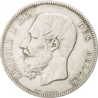 [ 450739] Belgium,  Leopold Ii,  5 Francs,  5 Frank,  1867,  Silver,  Km:24 photo