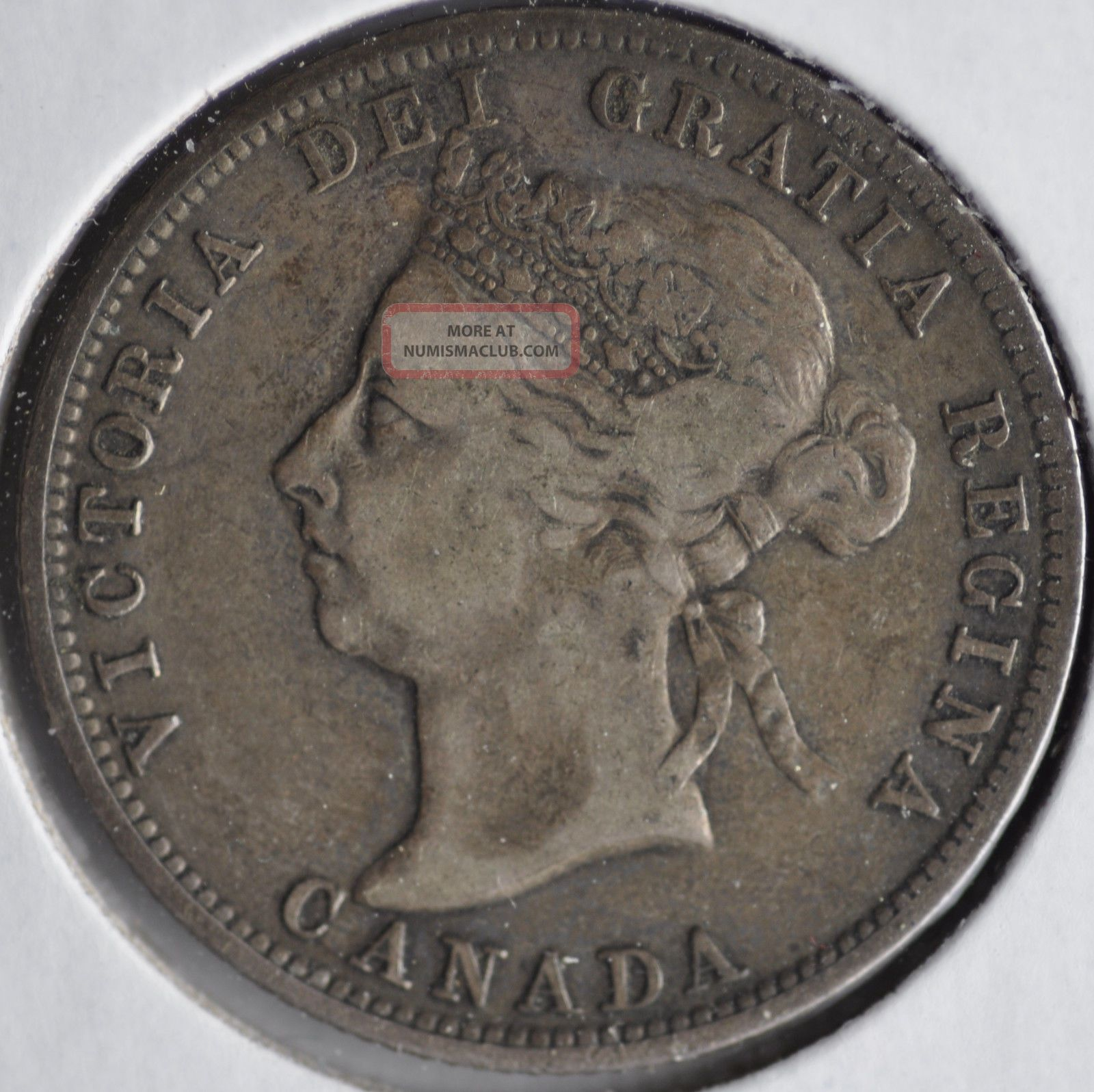 1900 25c Queen Victoria Twenty Five Cents Circulated Example Coins: Canada photo