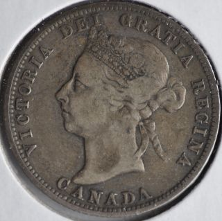 1900 25c Queen Victoria Twenty Five Cents Circulated Example photo