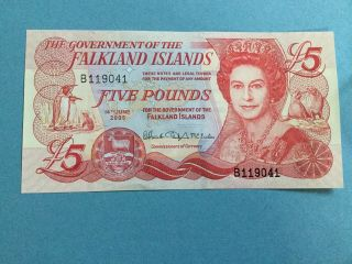 Falkland Islands 5 Pounds P - 17 Unc photo