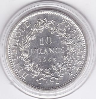 1968 Ten Franc Silver (90) Coin From France photo