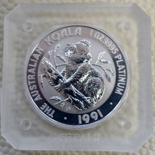 1 Oz Platinum Australian Koala Coin 1991 photo