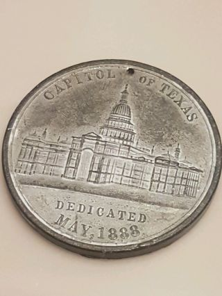 Austin Interstate Drill/capitol Of Texas 1888 Token photo