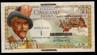 St.  Pierre And Miquelon - 1 Franc - P30b - 1960 - Xf - French Territory photo
