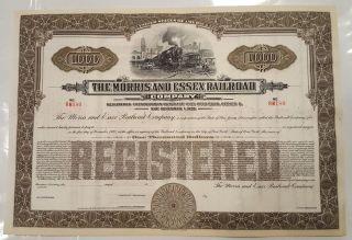 $1,  000 Morris & Essex Railroad Company Bond Stock Certificate Lackawanna photo