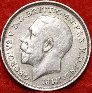 1913 Great Britain 3 Pence Silver Foreign Coin S/h photo