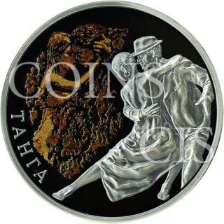 Belarus 2012 20 Rubles Tango Magic Of The Dance Proof Silver Coin photo