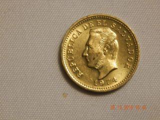 1974 El Salvador 3 Cent - Unc Odd Denomination photo