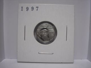 United States 1997 $10 American Eagle 1/10 Oz.  9995 Platinum Coin Ms State photo