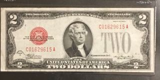 Rare 1928 - C $2.  00 United States Note - Bright And Crisp Circulated photo