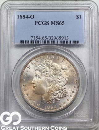 1884 - O Pcgs Morgan Silver Dollar Pcgs Ms 65 photo