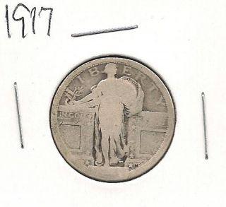 1917 Type 1 Standing Liberty Quarter photo