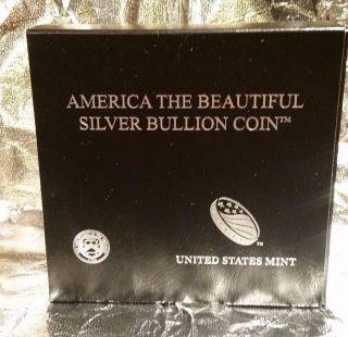 2015 Atb 5oz Blue Ridge Parkway 999 Fine Silver America The photo
