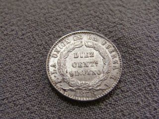 Bolivia 10 Cent Centavos 1878 Silver Coin - Estate Find - Ungraded photo