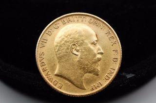 1905 British Half Sovereign Gold Coin - Great Details photo
