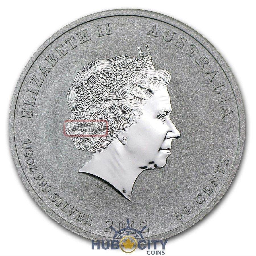 2012 Australian Perth 1/2oz Year Of The Dragon Red Colourized Silver Coin Coins: World photo