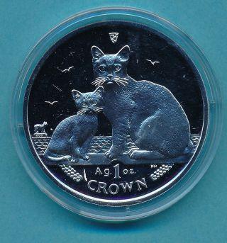 2008 Isle Of Man 1 Oz Silver Cat Coin - United Kingdom photo