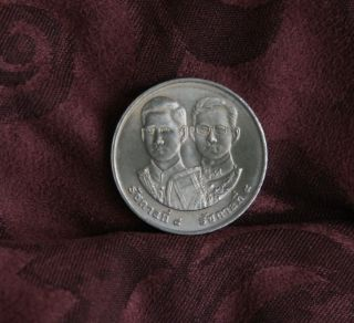King Bhumibol Adulyadej Rama Ix & Viii Thailand 20 Baht Coin Peace Day 1997 A photo