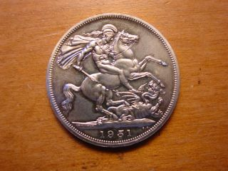 British Festival Of Britain Crown Coin King George 1951 photo