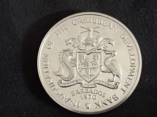 Barbados 4 Dollars 1970 Gem Proof Km A9 Fao photo