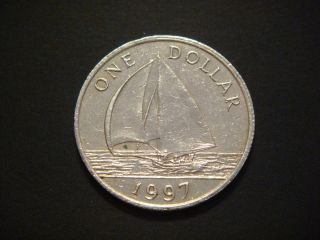 Bermuda 1 Dollar,  1997,  Sail Boat photo