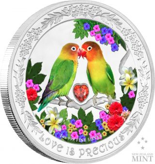 2017 Niue - Love Is Precious Silver Coin 1 Oz - Lovebirds photo