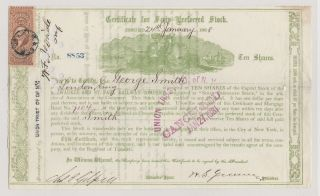 1868 Milwaukee And St.  Paul Railway Company.  Issued/signed/cancelled. photo