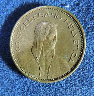 Switzerland Swiss Schweiz 5 Francs 1965 B William Tell Silver Coin photo