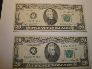 (1) $20.  00 Series 1981 Federal Reserve Note Xf Circulated. photo