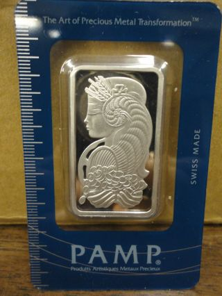 1 Ounce Pamp Swiss Platinum Investment Bar In Assay Certicard Case photo