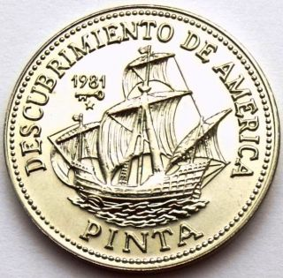 1 Peso 1994 Km 67 Sailing Columbus Ship Pinta Unc - Very Rare Coin photo