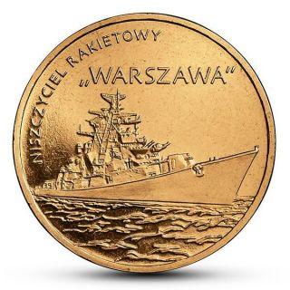 Poland 2 Zlote 2013 Y859 Ship Guided - Missle Destroyer Warszawa - Warsaw Unc photo