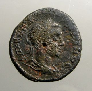 Gordian Iii Bronze Ae28_nicopolis Ad Istrum Thrace_tyche With Torch & Rudder photo