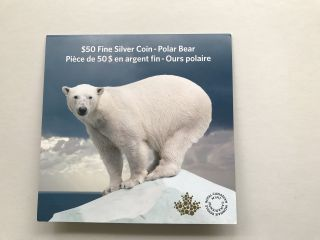 Canada 2014 $50 For $50 Fine Silver Coin - Polar Bear photo