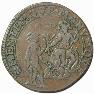 Spanish Netherlands Undated Suspision Against Peace Copper Jeton Token Medal photo