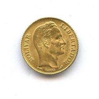 1911 Gold Venezuela 20 Bolivares Gr 6.  4516 Choice Bu Y 32 photo
