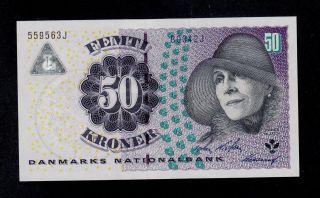 Denmark 50 Kroner 2004 B0 Pick 60a Unc Banknote. photo