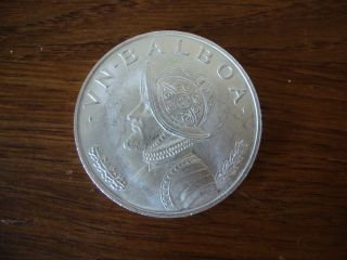 Republic Of Panama One Balboa 1966 Silver Coin Rare 61 - 68 photo